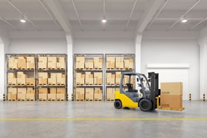 Well maintained warehouse and machinery using our industrial cleaning services