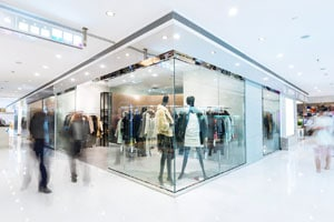 Well maintained retail store cleaned by professional cleaning services