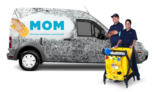 One of our team and their truck with professional cleaning equipment