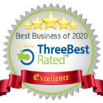 ThreeBest Rated badge of Best rated Business of 2020